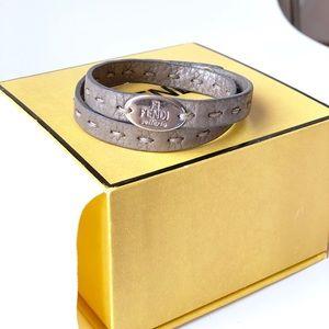 ‼️SOLD Auth FENDI leather wrap bracelet w box